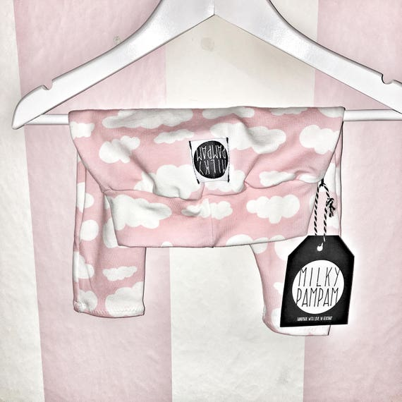 Baby/children Harem leggings clouds pink white