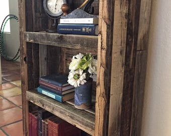 Bookcase, Bookshelf - rustic - made to order