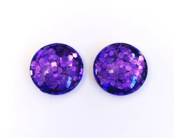 The 'Poise' Glass Glitter Earring Studs