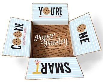 Care Package Sticker Kit - You're One Smart Cookie/college care package/school care package/back to school/teacher gift/box flaps/finals
