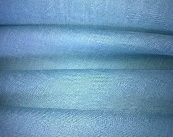 Blue linen veil tropic width 160cm