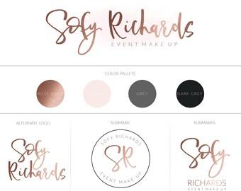 Branding Board   Branding Kit   Premade branding Kit   Mood Board   Branding   Brand   Business identity   Rose gold   Watermaks