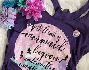 Disney Inspired Peter Pan Mermaid Lagoon Happy Thoughts tank top