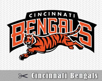Cincinnati Bengals Layered SVG PNG Logo Cut File Silhouette Studio Cameo Cricut Design Template Stencil Vinyl Decal Tshirt Transfer Iron on