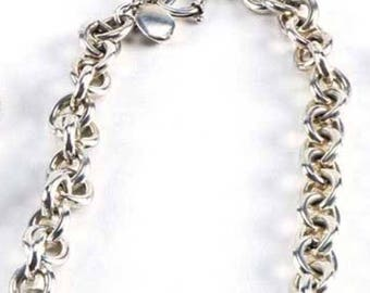 Sterling Silver necklace  Over 5 ounces (140 grams)   Cable chain design
