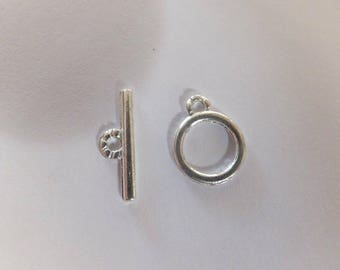 Silver Plated Small Toggle Clasp Set