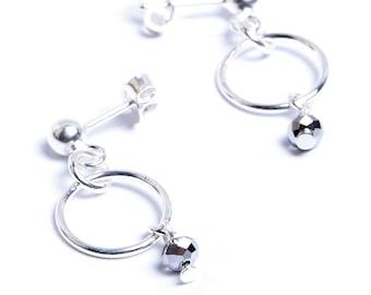 CVCA earrings in 925 sterling silver and swarovski crystal