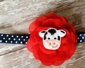 Little Cow Flower Headband