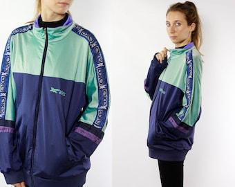 Vintage Windbreaker 90s Windbreaker Vintage Track Jacket 90s Track Jacket Oversize Windbreaker Asics Windbreaker Tape Jacket Asics Jacket