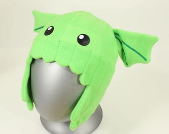 Adult Cthulhu Hat – Cthulhu Winter Hat – Adult Size Fleece Cthulhu Hat – Chibi Cthulhu Hat – Cthulhu Adult Winter Hat – Cthulhu Fleece Hat