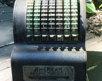 Antique American Can Co. Adding Machine - 1912 Patent