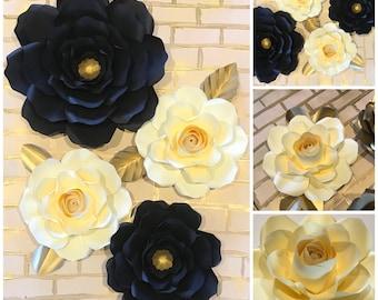 Paper flower backdrop/ Paper flowers/ Wedding decoration/ Wall decoration
