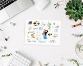 Everyday life, transparent Stickers