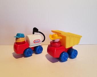 Little Tikes Dump Truck and Fuel Truck Set