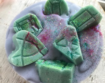 Rainbow Brite Wax Melt Pie, Rainbow Sherbet, Orange Dreamsicle & Fizzy Soda Wax Melts
