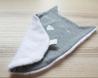 Doudou Cat/blanket/Cat cuddle blanket/Lovey Blankie/Baby blanket/Snuggle blanket/Baby security blanket