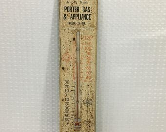 "Vintage Metal Porter Gas & Appliance Thermometer - 12-3/4"" X 2-3/4"" - FREE SHIPPING!"