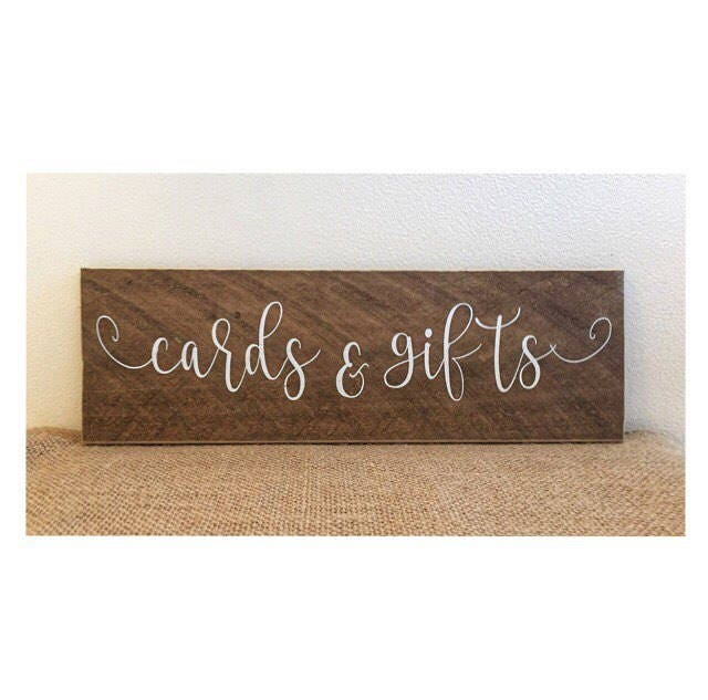Wedding Sign - Wedding Decor - Cards Sign - Gifts Sign - Cards and ...