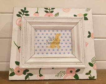 Handpainted Floral 5 x 7 Frame