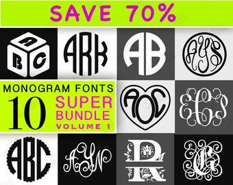 MONOGRAM FONT SVG Bundle font bundle svg font bundle - cricut fonts svg monogram font bundle - fonts download letter monogram svg 107