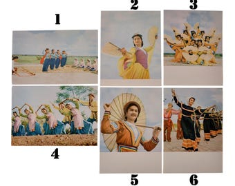 Vintage Asia Vietnam Postcards Ethnos Dances Culture Art Collecting 1960-s