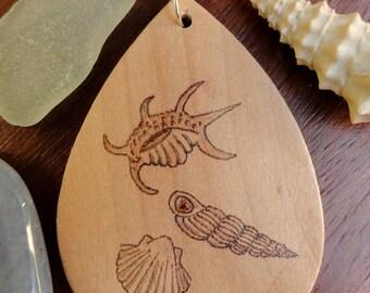 Wood shell jewelry