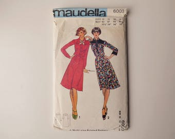 "Maudella 6003 Vintage Dress Sewing Pattern -  87cm/34"" Bust"