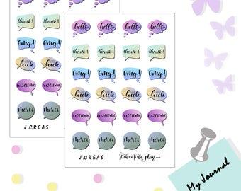 Comic book bubble sticker