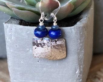 Lapis Lazuli & Sterling Silver Earrings