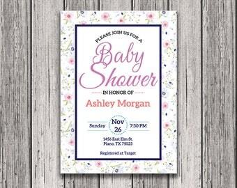 Baby Shower Invitation - Baby Shower Template - Editable Baby Shower Invitation - Baby Shower Printable - Baby Shower Invitation Template