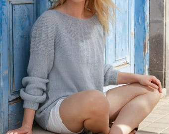 Color selection: Soft sweater made of alpaca/silk