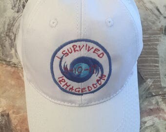 Ball cap, Embroidered Ball Caps, Irmageddon, Custom Embroidered Ball Cap, Hurricane Ball Caps