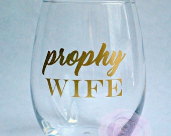 Prophy Wife Stemless Wine Glass Hygienist Humor RDH Dental Prophy Wives  Gift for Hygienist Gold Hygiene Dentist Hygiene Appreciation