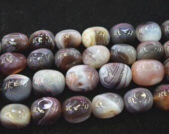 15 inch strand , Natural Botswana Agate Nugget Beads-Random Botswana Agate Stone