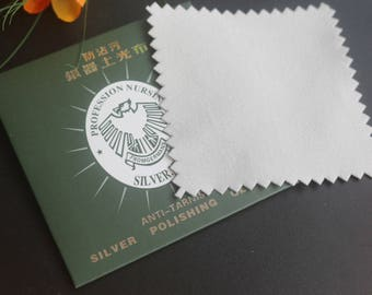 8 X 8cm Silver 925 Anti-Tarnish Cloth Cleans Sterling Silver Cleaning Cloth Polishing Silver Cloth ,20pcs