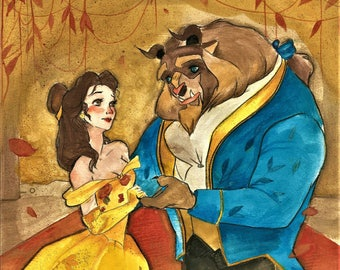 Beauty and the Beast // Original Artwork