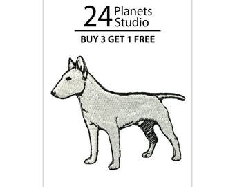 Bull Terrier Iron on Patch by 24PlanetsStudio Cute Applique Cute Patch dog patch dogs