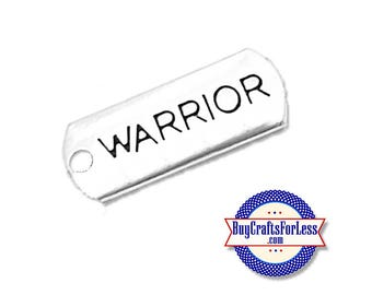 WARRIOR Affirmation Charms, 4, 8, 12 pcs  +FREE ShiPPing & Discounts*