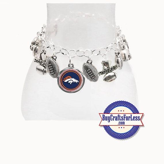 DENVER Football Silver Plated CHARM Bracelet  **FREE U.S. SHiPPiNG**
