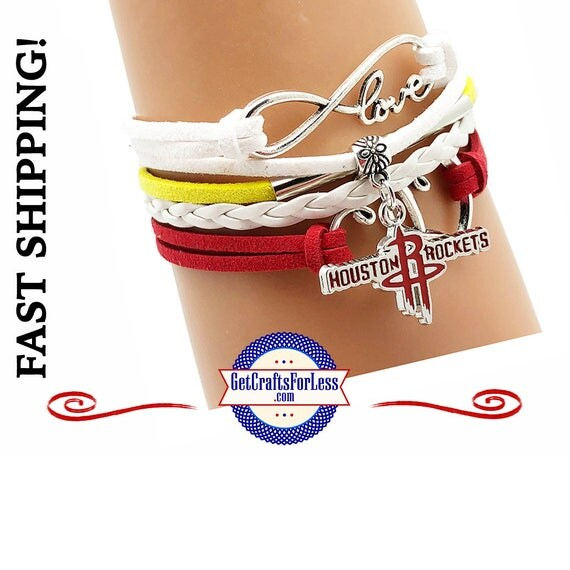 HOUSTON Basketball CHaRM BRACeLET,, CHooSE from Clasp Style +FREE SHiPPiNG & Discounts*