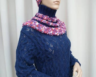 warmers hand knitted shoulders and headband