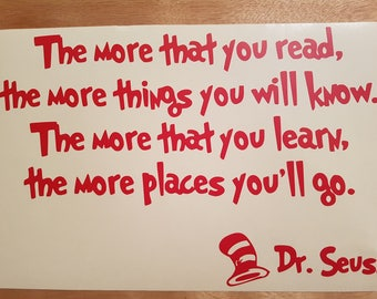 Dr. Seuss Indoor Wall Decal w/ free shipping