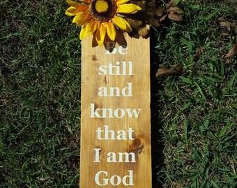 Scripture Wooden Sign