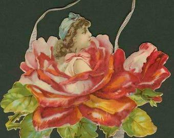 Four Segment Rose Pendant Valentine