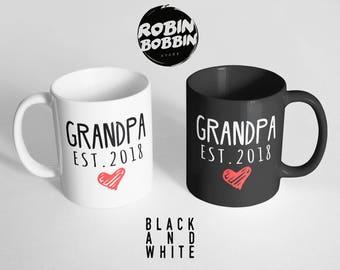 Grandpa Black&White Mug - Pregnancy Reveal Grandpa Mug, Pregnancy Announcement Grandpa Mug, Baby Announcement Grandpa Mug, Grandpa Mug