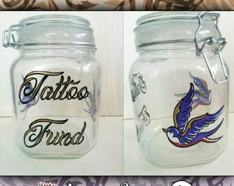 Saving Jars - Tattoo Fund, Shopping Fund, Trip Fund, Piggy bank, etc.