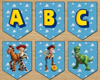 Toy Story Banner, Party Banner Toy Story, Digital Printable, Download Instant Toy Story Banner, Birthday Toy Story, Buzz Lightyear Banner