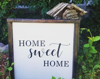 Home Sweet Home Sign, Wood Sign, home sign, home sweet home