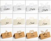 Table Place Card, Wedding Place Cards, Table Name Card, Wedding Table Cards, Laser Cut Place Cards, Filigree Place Cards, 10 Pack Name Cards