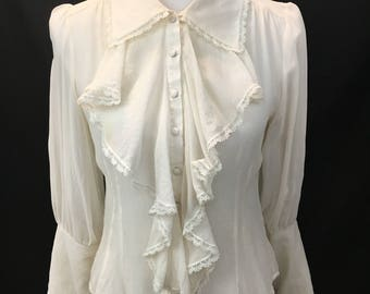 Romantic Silk Poet Blouse